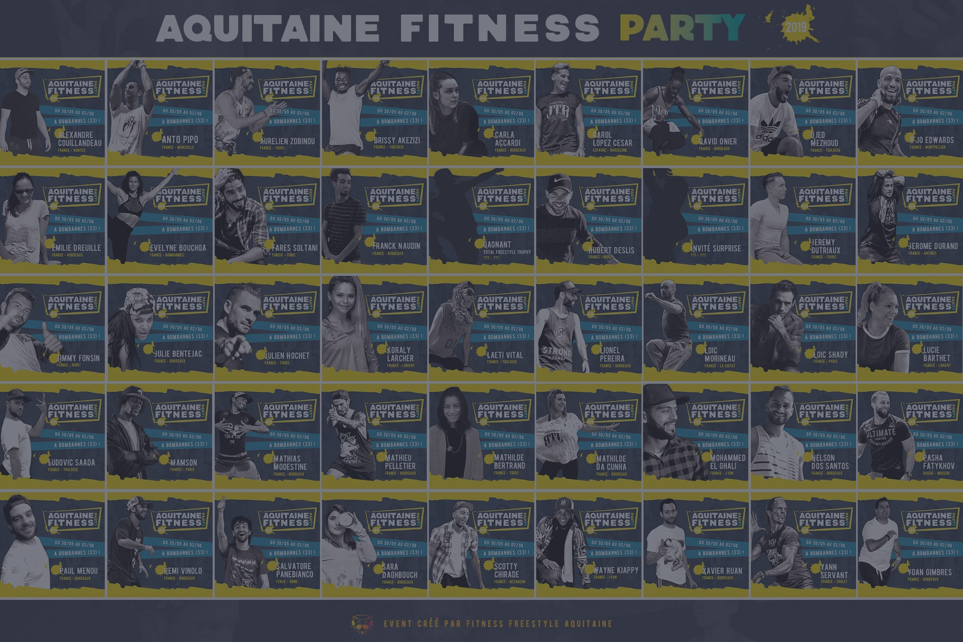 Aquitaine Fitness Party 2019 liste des profs